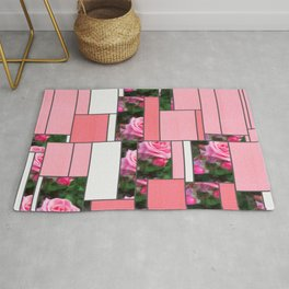 Pink Roses in Anzures 1 Art Rectangles 9 Rug