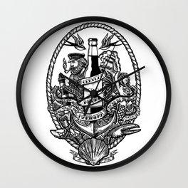 Cerveza Mustache Wall Clock