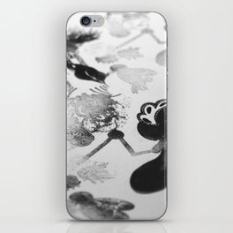black and white floc iPhone Skin