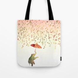 Dancing with Musical Rain Tote Bag