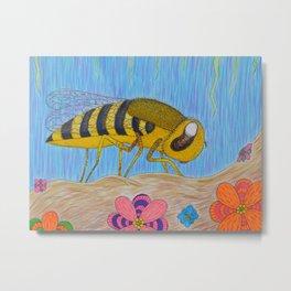 Spring Bee Metal Print