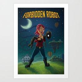 Forbidden Robot Art Print