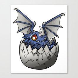 Blue Baby Dragon Mythological Creature Gift Canvas Print