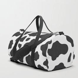 Black and White Cow Print Duffle Bag