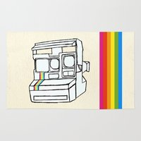 polaroid Area & Throw Rugs featuring Polaroid  by GetNaked