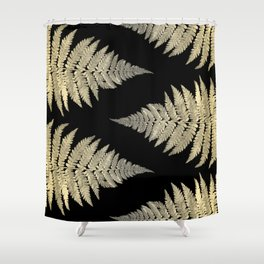 Golden Fern Art | Plant | Photography | Digital Art Shower Curtain