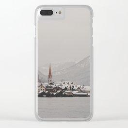 hallstatt under the snow (5) Clear iPhone Case