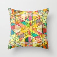 kaleidoscope Throw Pillows featuring Kaleidoscope by Tammy Kushnir
