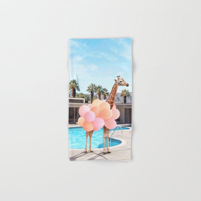 Giraffe Palm Springs Hand & Bath Towel