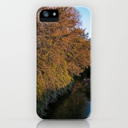 Bridge over an irrigation channel of the Lomellina at sunset iPhone Case
