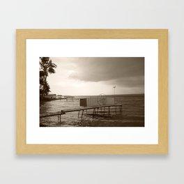 Storm Clouds over Cayuga Lake 2013 Framed Art Print