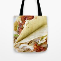 taco Tote Bags featuring Taco  by Spotted Heart
