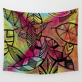 Crazy Leaves  Wall Tapestry