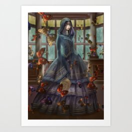 witch of knowledge Art Print