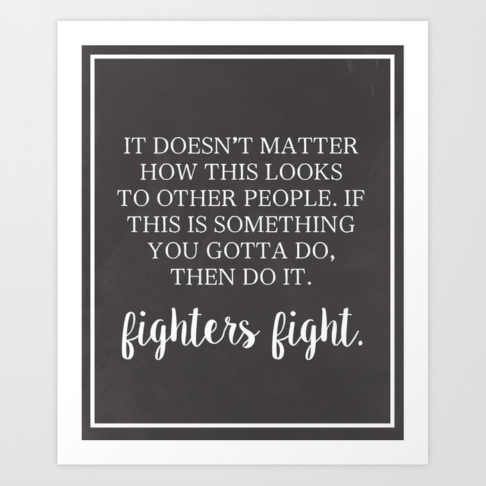 Fighter's Fight Art Print
