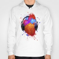 springsteen Hoodies featuring No Music - No Life by Sitchko Igor