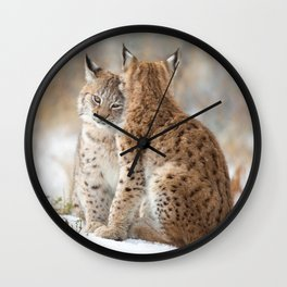 Lynx Love Wall Clock