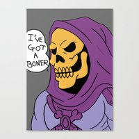 skeletor Canvas Prints featuring Skeletor by Robert Payton