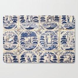 Dutch Delft Blue Tiles Cutting Board