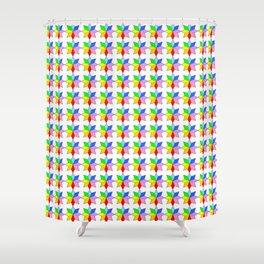 stars 18 multicolor Shower Curtain