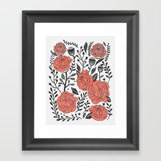 Orange Garden Framed Art Print