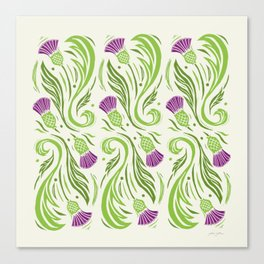 Thistles - Color Pattern Canvas Print