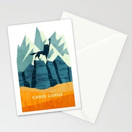 Canis Lupus: What a beautiful creature. I have a Phobia of Wolves. Stationery Cards