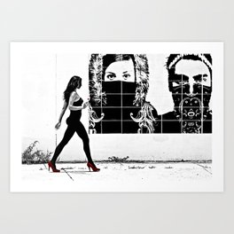 Walking the District Art Print