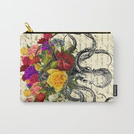 Octopus Attacking Flowers Carry-All Pouch