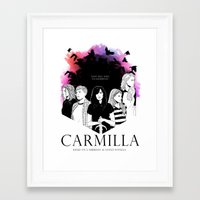 carmilla Framed Art Prints featuring Carmilla by Kimberley Fahey