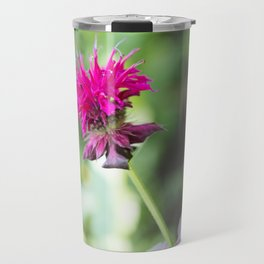 Pink Bee Balm Flower 1 Travel Mug