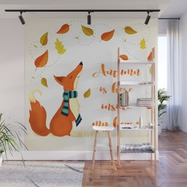 Autumn Is Here Inside My Heart Wall Mural