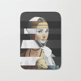Leonardo da Vinci's Lady with a Ermine & Audrey Hepburn Bath Mat