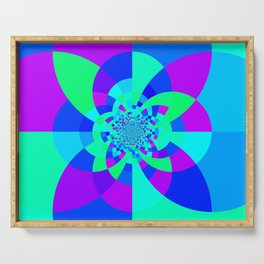 Orchid Aqua Turquoise Kaleidoscope Serving Tray
