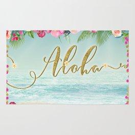 Golden Aloha Rug