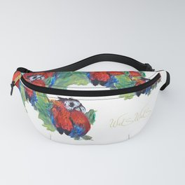 RED PARROT Fanny Pack