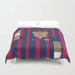 Neymar Barcelona Illustration Print Duvet Cover
