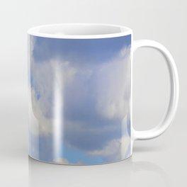 White Puffs in the Sky Coffee Mug