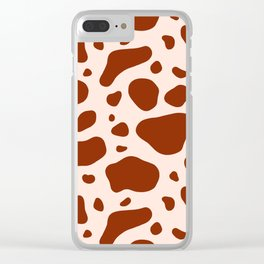 How Now Brown Cow Clear iPhone Case