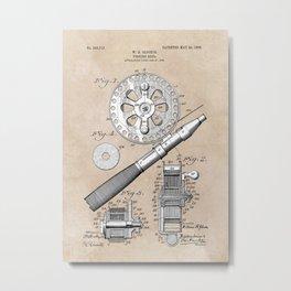patent art Glocker Fishing reel 1906 Metal Print