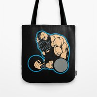 bane Tote Bags featuring B gym 2 by Buby87