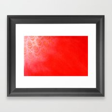 Feathering Red Framed Art Print