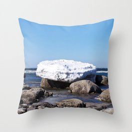 Perched on the Boulders Throw Pillow