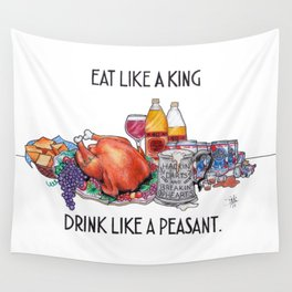 Eat Like A King Wall Tapestry