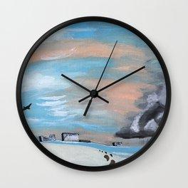 Summer Storm Wall Clock