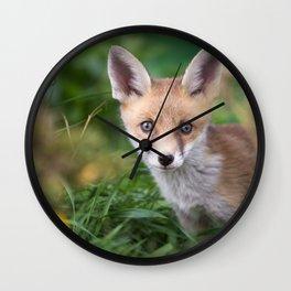 Fox Cub Wall Clock
