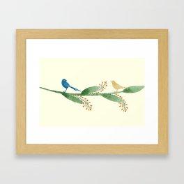 Birds on Branch Framed Art Print
