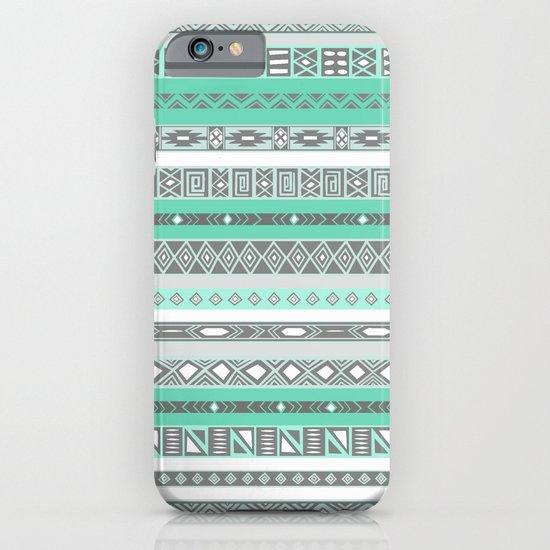 Cool Mint Tiffany Aztec Pattern iPhone & iPod Case