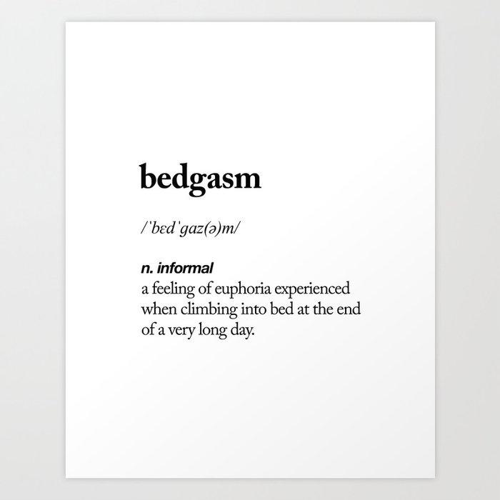 Bedgasm Black And White Contemporary Minimalism Typography Design