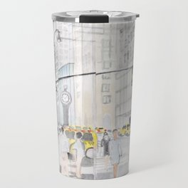The reflection of a big city Travel Mug